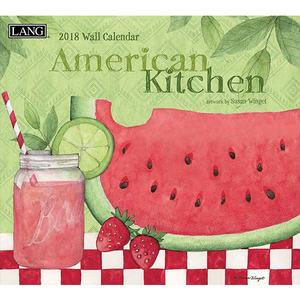 [LANG] 2018 벽걸이 달력 - American Kitchen 스크레치SALE