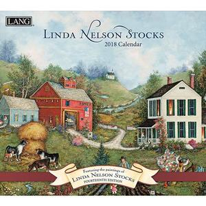 [LANG] 2018 벽걸이 달력 - Linda Nelson Stocks