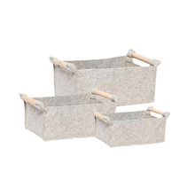 [hubsch] Felt Basket 3set - grey